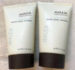 2 X ahava deadsea water mineral hand cream 1.3 oz