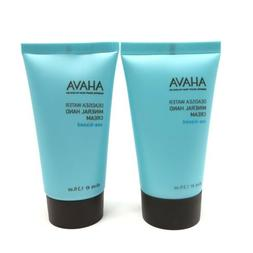 2x AHAVA Deadsea Water Mineral Hand Cream Travel Size 1.3oz