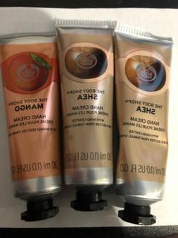 Set Of 3 The Body Shop Hand Creams 2 Shea 1 Mango 1oz Ea New