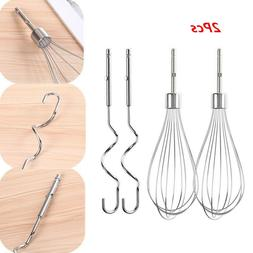 2x Stainless Steel Hand Mixer Egg Beater_ Cream Whisk Kitche