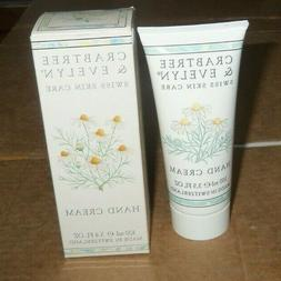 3.4oz CRABTREE & EVELYN SWISS SKIN CARE HAND CREAM unsealed