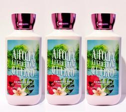 3 Bath & Body Works ALOHA WATERFALL ORCHID Body Lotion Hand