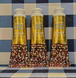 Bath & Body Works BANANA CUSTARD 1oz Hand Cream x3 FREE SHIP