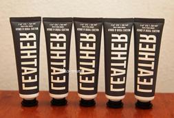 Bath Body Works LEATHER 1ozs Hand Cream Lotion Tubes x 5