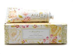 Lollia BELIEVE Cabbage Rose & Citrus Hand Cream 4 oz w/ Shea