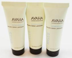 Bundle of 3 Ahava Dead Sea Water Mineral Hand Cream .68 oz M