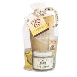 Burt's Bees Hand Repair Gift Set, 3 Hand Creams plus Gloves