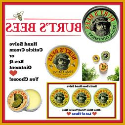 Burts Bees Hand Care 🐝 Salve 🐝 Cuticle Cream 🐝 Res-