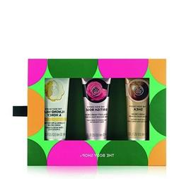 The Body Shop Caring Hand Creams Trio Gift Set, 3pc Set of P