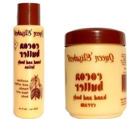Queen Elizabeth Cocoa Butter Hand & Body Cream Plus Cocoa Bu
