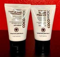 coconut oil hand cream and heel