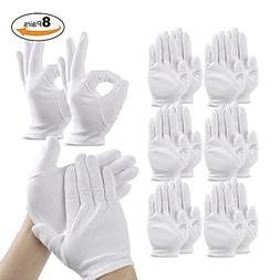 Cotton Cosmetic Moisturizing Gloves, Teenitor White Hand Spa