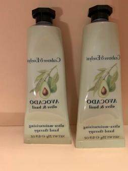 CRABTREE & EVELYN AVOCADO OLIVE & BASIL HAND THERAPY CREAM L