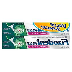 Fixodent Food Seal Plus Scope Denture Adhesive Cream Twin Pa
