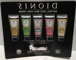 DIONIS Goat Milk Hand Cream, 1.0 oz, 5-pack