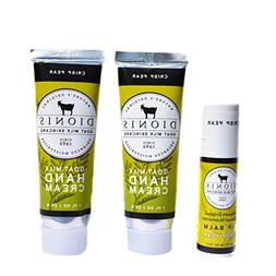 Dionis Goat Milk Hand Cream and Lip Balm 3 Piece Gift Set -