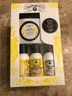 J.R. Watkins Lemon Cream Travel Kit Lotion Soap body wash li