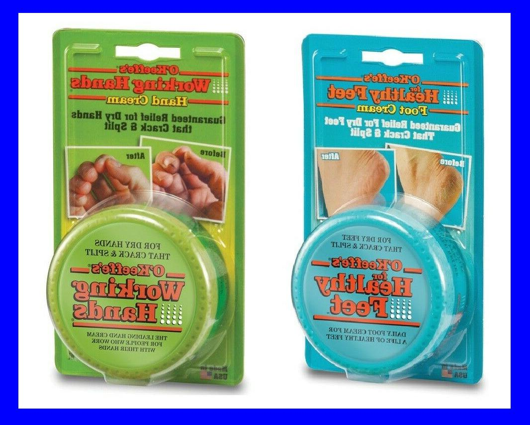 **1 Each!!** O'Keeffe's Working Feet & Hand Cream 3.2oz Loti
