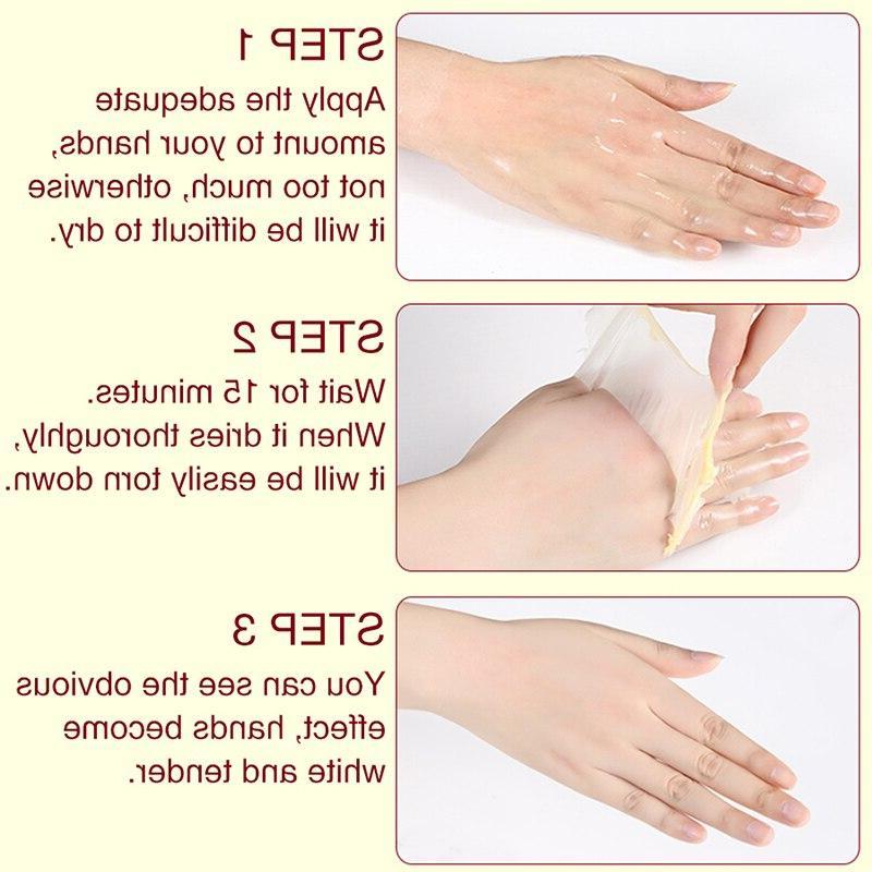 1PCS <font><b>Hand</b></font> Mask <font><b>Hand</b></font> Wax Moisturizing Whitening Skin Exfoliating <font><b>Hands</b></font> <font><b>Cream</b></font>