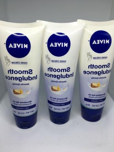 3 Nivea hand cream smooth indulgence 3.5oz Rare Discontinued