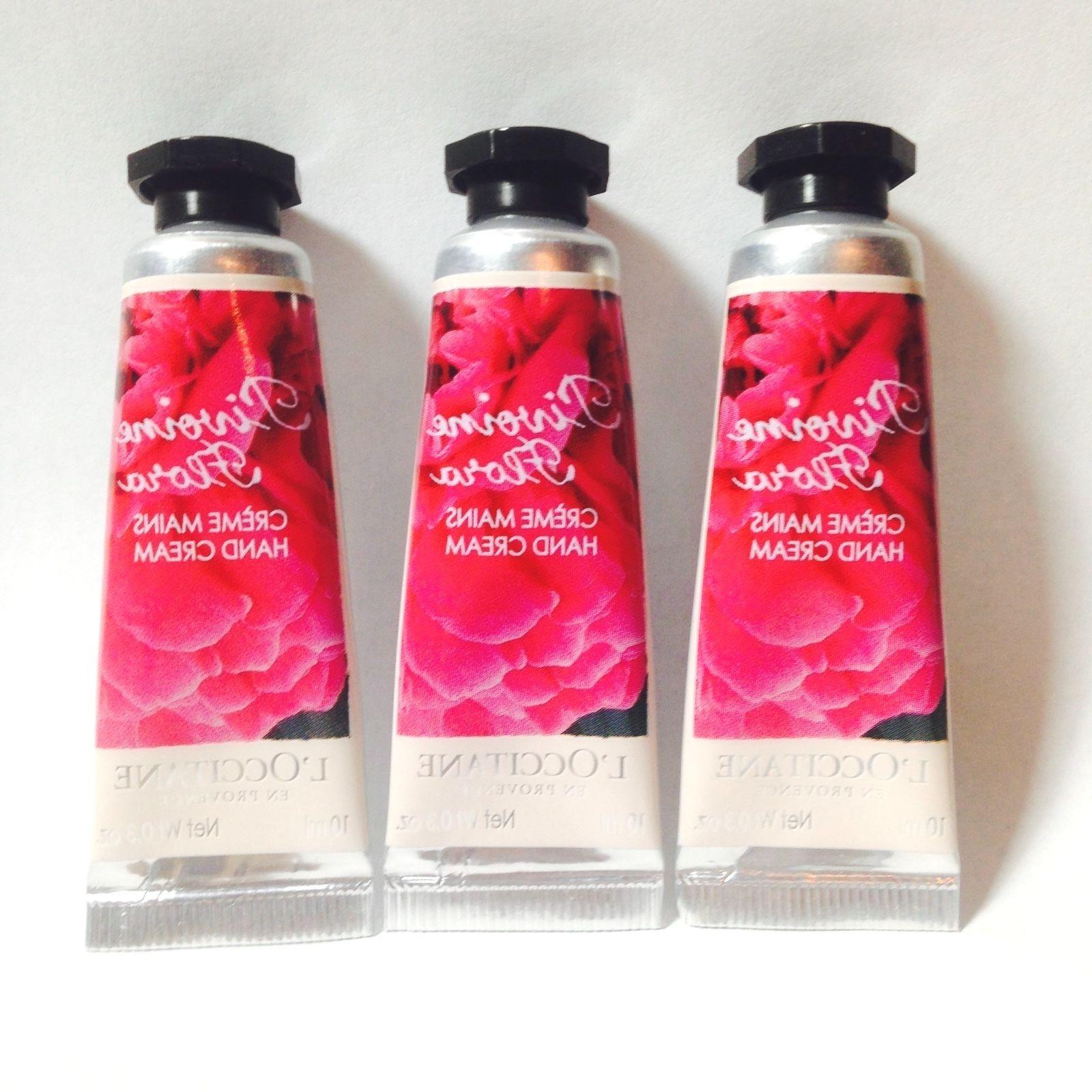 3 X L'occitane Pivoine Flora Hand Cream 0.35oz/10ml each Tra