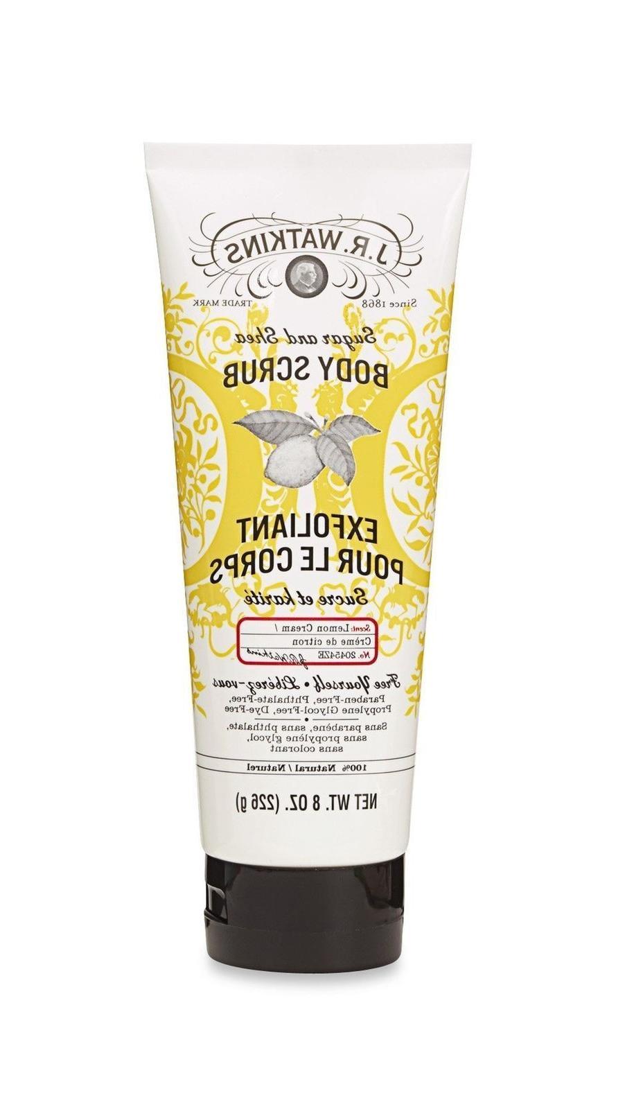 J.R. Watkins Sugar & Shea Body Scrub, Lemon Cream, 8 ounce