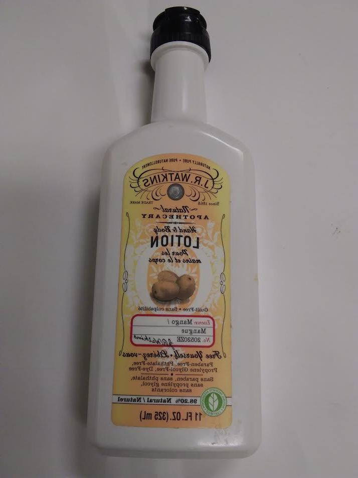 J.R. Watkins Natural Apothecary Hand And Body Lotion 11oz.