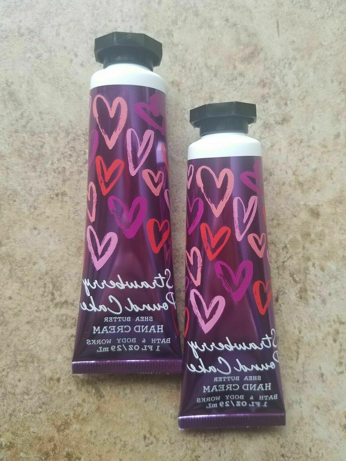 Bath & Body Works STRAWBERRY POUND CAKE Hand Cream 2-Pack  -