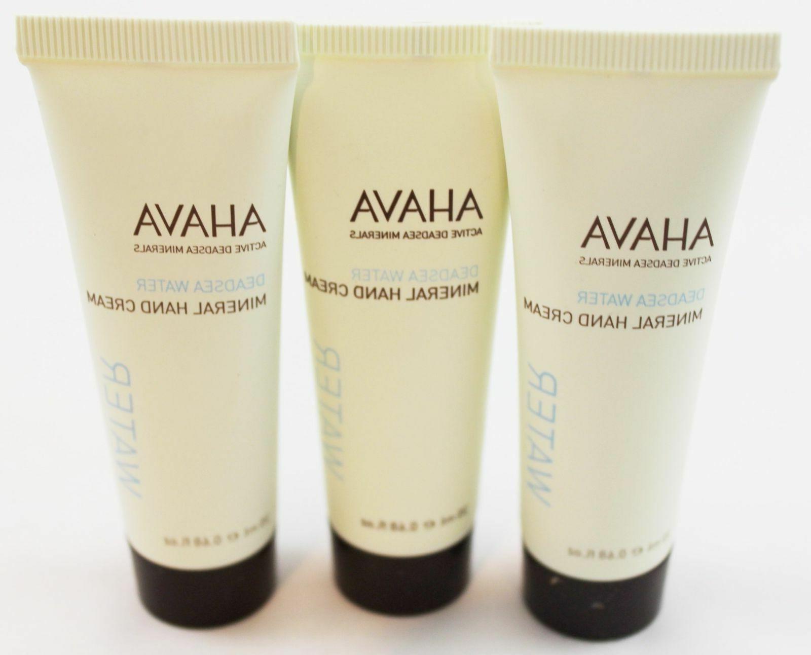 Bundle of 3 Ahava Dead Sea Water Mineral Hand Cream .68 oz M