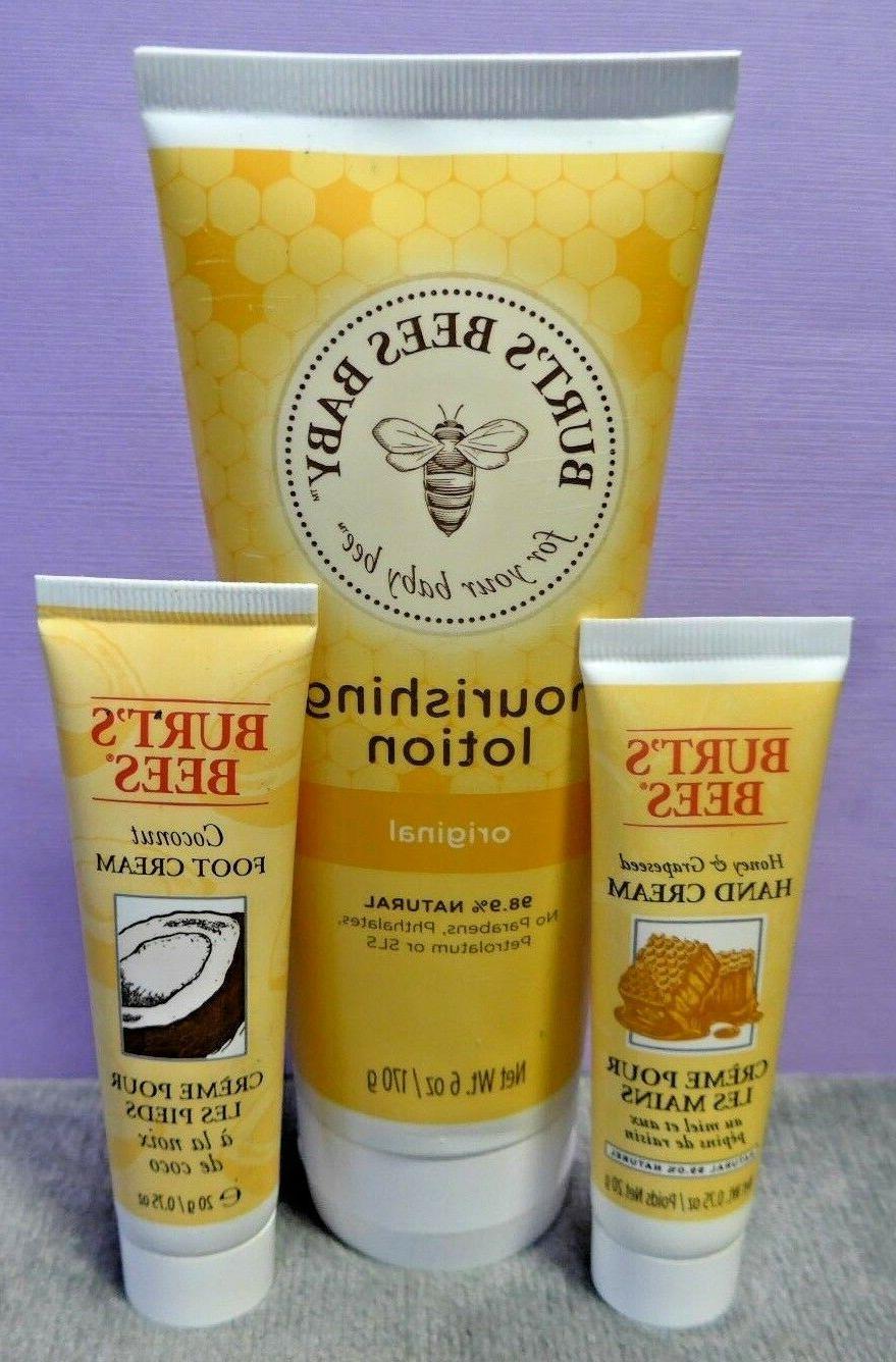 Burt's Bees Baby Lotion + Hand & Foot Creams