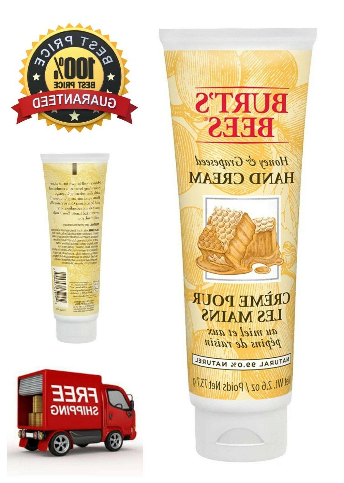 Burt's Bees Honey & Grapeseed Hand Cream Contains Natural Ho