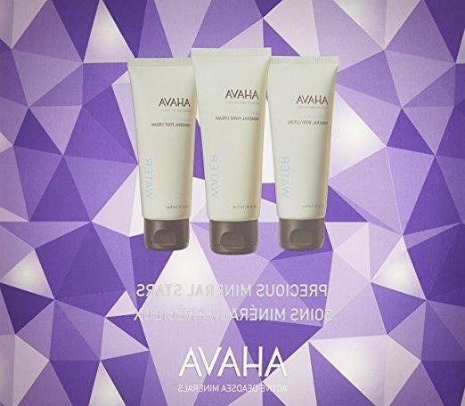 AHAVA Crystal Stars Body Trio - Body Lotion, Hand Cream, Foo