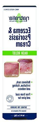 Natralia Eczema Cream, 2 - Flare Cream Relieves Rash, & Eczema, Psoriasis &