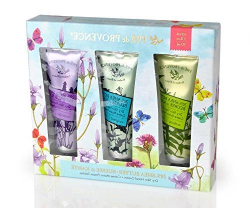 Pre de Provence Floral Meadow Box, Set 3, Verbena, Original, and 20% Shea Cream