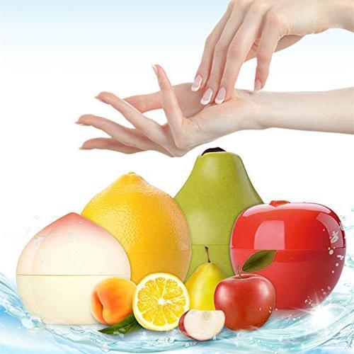 8Pcs/Lot Fruit Cream Whitening Moisturizing Anti-Aging Mini Cute Hand Apple&Lemon&Peach&Banana Mix