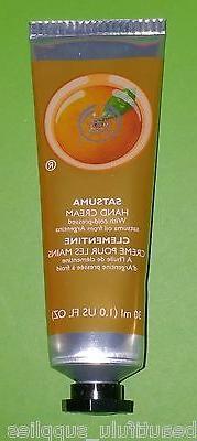 The BODY Shop Hand Cream 30 ml 1 oz NEW - SATSUMA