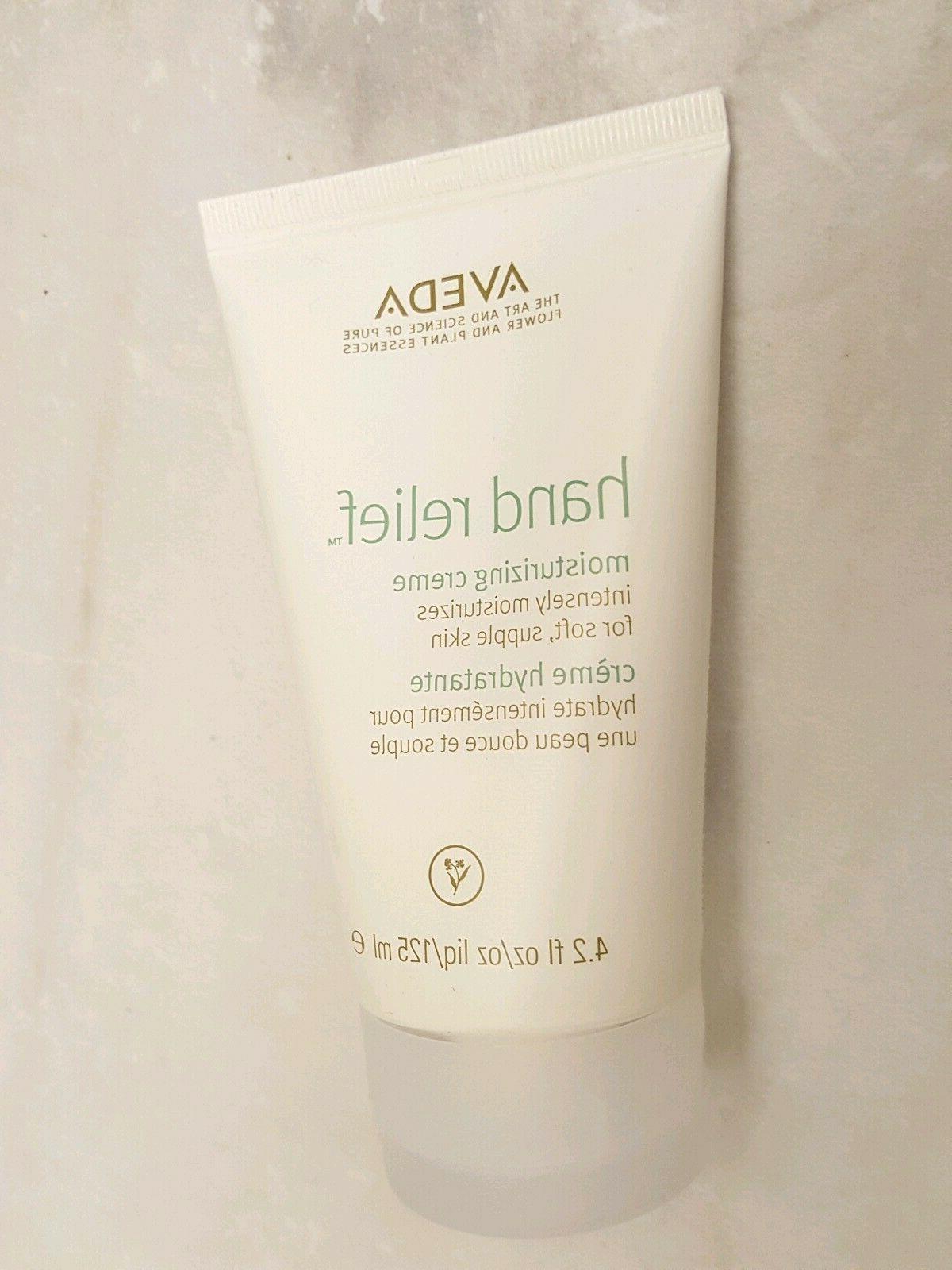 Aveda Hand Relief Moisturizing Creme Cream 4.2 Oz 125 mL fre