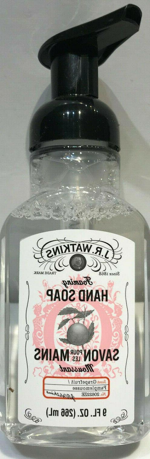 j r watkins grapefruit foaming hand soap