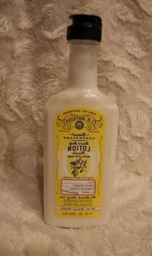 J.R. Watkins Hand & Body Lotion Lemon Cream 11 oz / 325 mL G