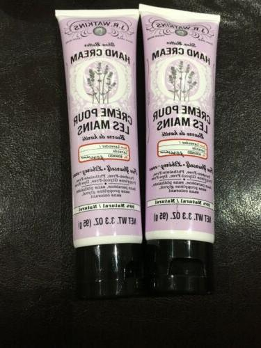 j r watkins lavender hand cream lot