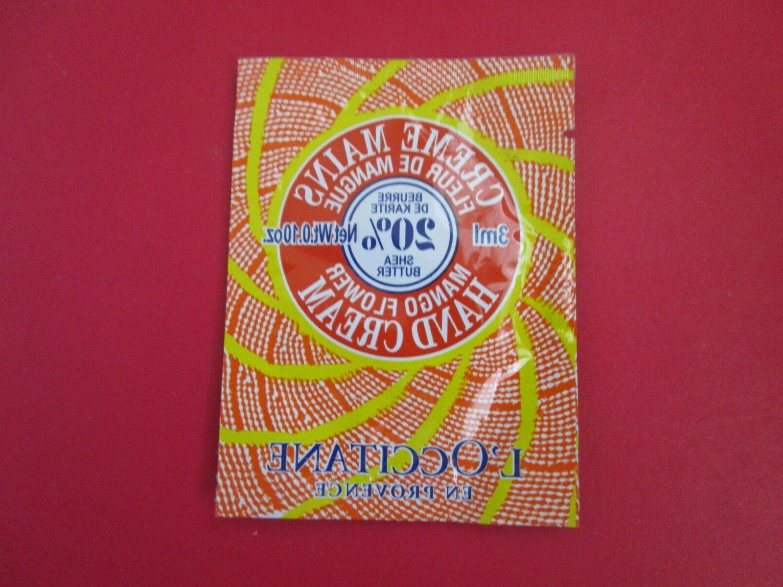 L'OCCITANE MANGO FLOWER HAND CREAM Sample Packet Travel Size