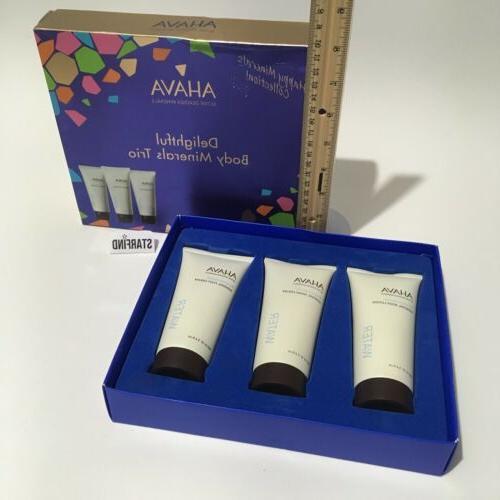 Ahava Mineral Trio Body Hand Foot Cream Lotion 3.4oz 100mL W