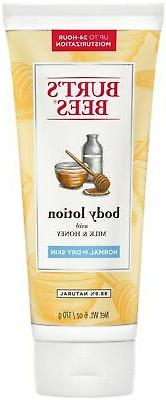 Burt's Bees Naturally Nourishing Milk & Honey Body Lotion, 6