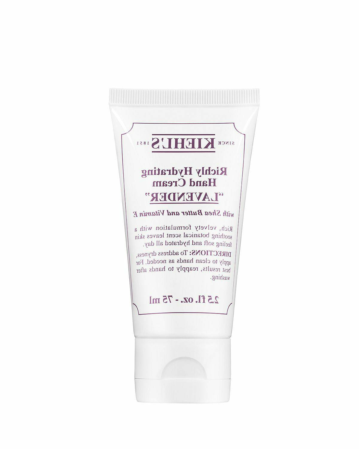 New Kiehl's Richly Hydrating Lavender Hand Cream 2.5 oz./75m
