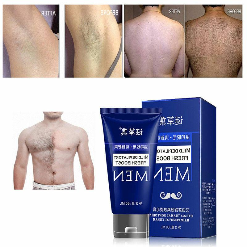 NEW Man Permanent Body Hair Removal Cream Hand Leg Loss Depi