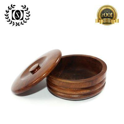New Men's Barber Wood Shaving Bowl Cup Mug for Shaving Soap