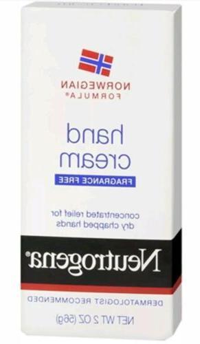 norwegian formula hand cream fragrance free 56g
