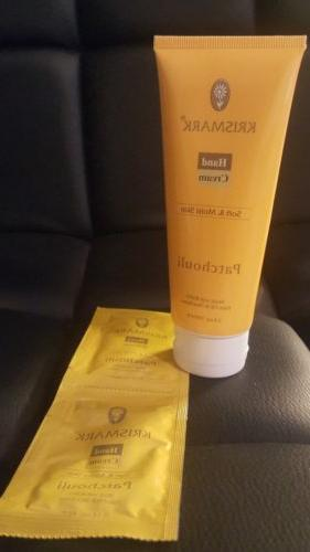 patchouli hand cream with palm oil