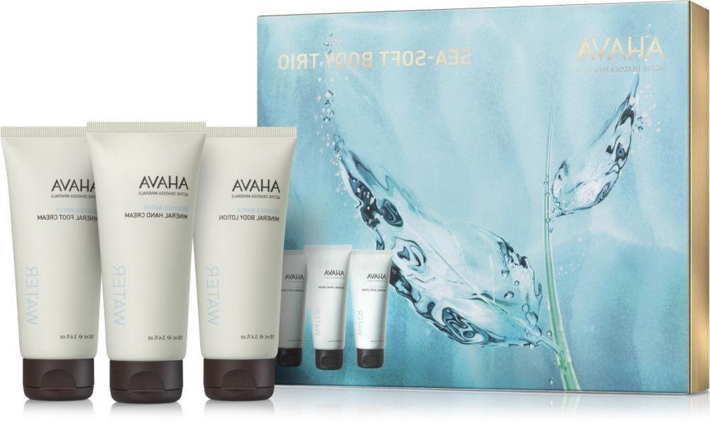 AHAVA SEA-SOFT BODY TRIO -  Hand /Foot Cream & Body Lotion,
