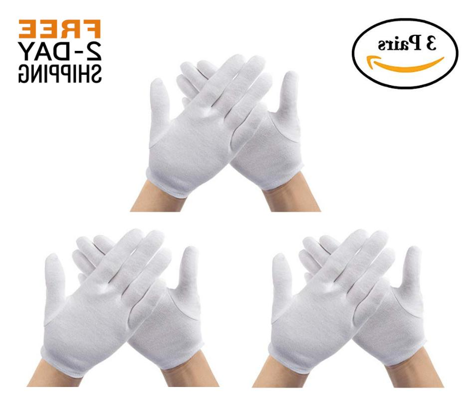 Sensitive Skin Gloves Moisturizing Cotton Protect Dry Hands